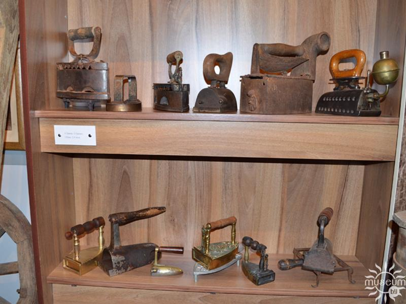 Collection of irons in Glusk Historical and Local Studies Museum